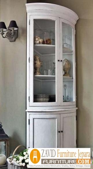 lemari-hias-sudut-minimalis-putih-duco Lemari Hias Mewah Jati Ukir 88 Desain Paling Laris