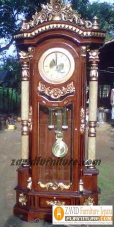 lemari-jam-mawar-modern Almari Jam Mawar Ukiran Kayu Jati