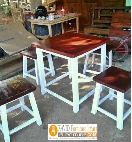 meja-kursi-cafe-minimalis-kombinasi-putih-coklat Set Meja Kursi Cafe Surabaya Minimalis Kombinasi Coklat Putih