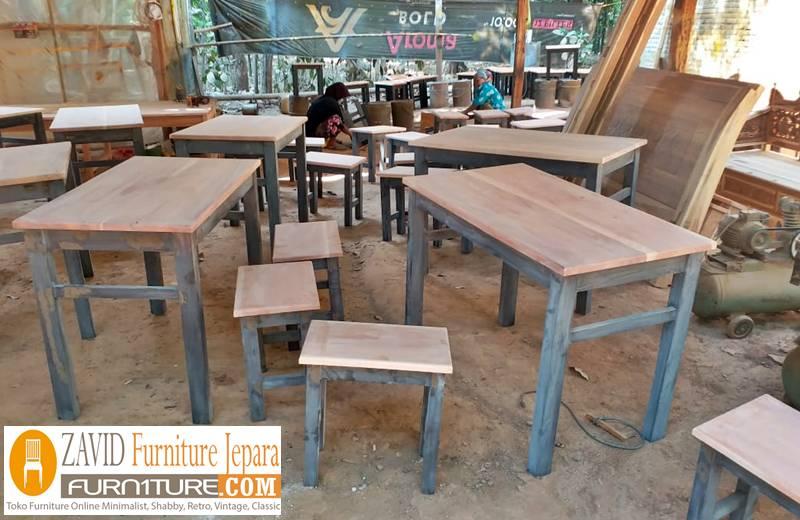 meja kursi cafe minimalis - Kursi Cafe Bandung Kayu Jati Minimalis Murah