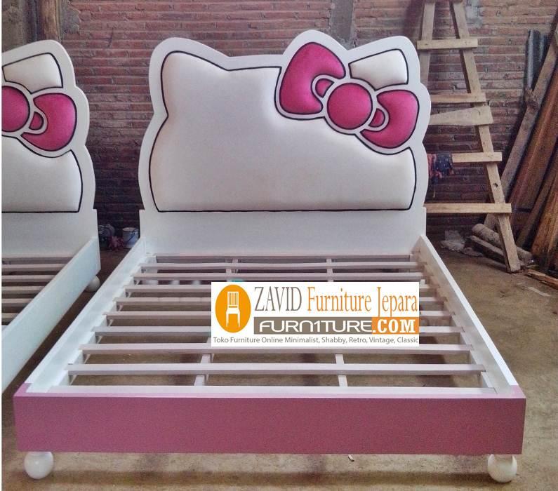 tempat-tidur-hello-kitty-anak-perempuan Tempat Tidur Hello Kitty Minimalis Anak Perempuan