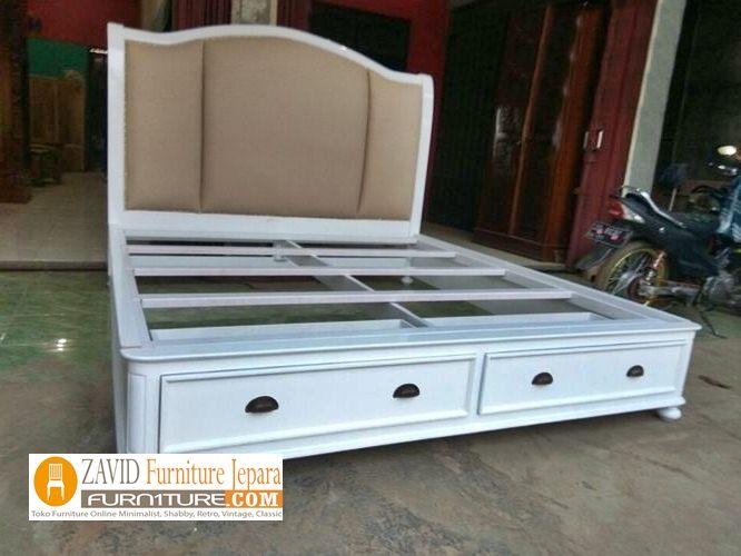 tempat tidur minimalis putih duco berlaci - Tempat Tidur Anak Surabaya Minimalis Putih Duco Berlaci