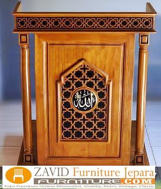 jual-mimbar-masjid-kayu-jati-desain-baru Mimbar Bandung Minimalis Kayu Jati Untuk Masjid Desain Baru