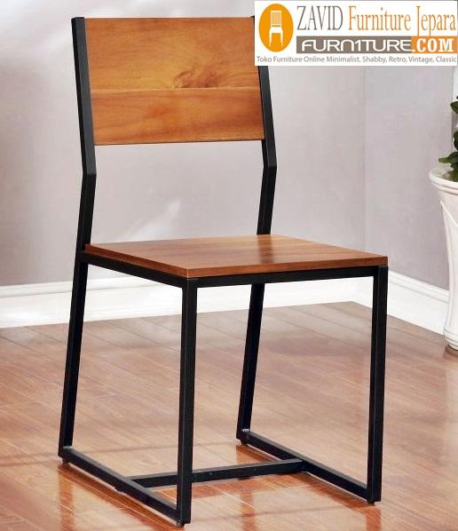 kursi cafe kombinasi kayu dan besi - Kursi Cafe Bogor Besi Kombinasi Kayu Minimalis