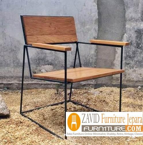 kursi cafe minimalis kombinasii besi dan kayu - Kursi Cafe Bogor Besi Kombinasi Kayu Minimalis