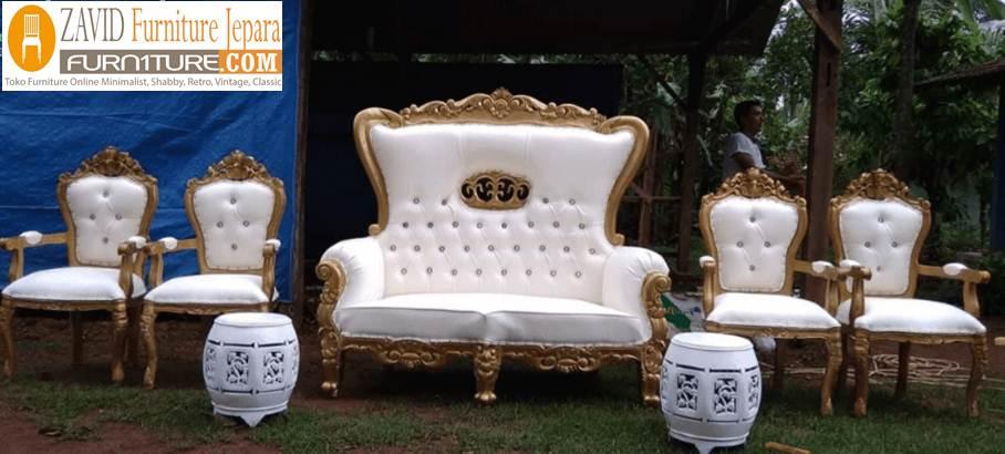 kursi-pelaminan-mahkota-modern Kursi Mewah Jati Mahkota Untuk Pelaminan