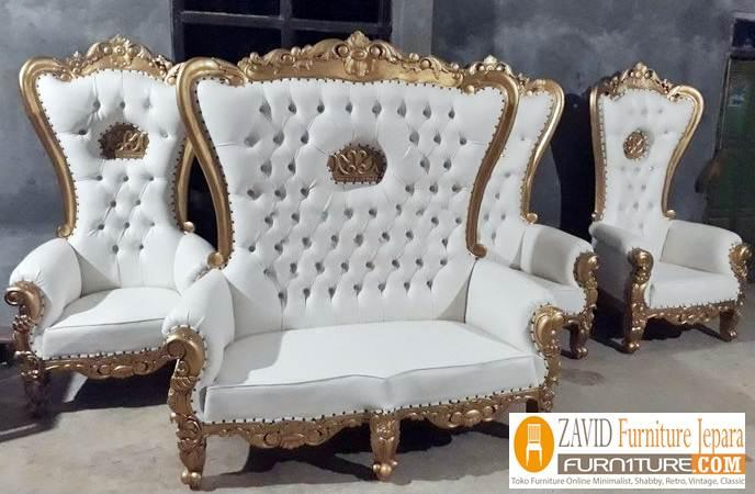 kursi-pelaminan-mahkota Kursi Mewah Jati Mahkota Untuk Pelaminan
