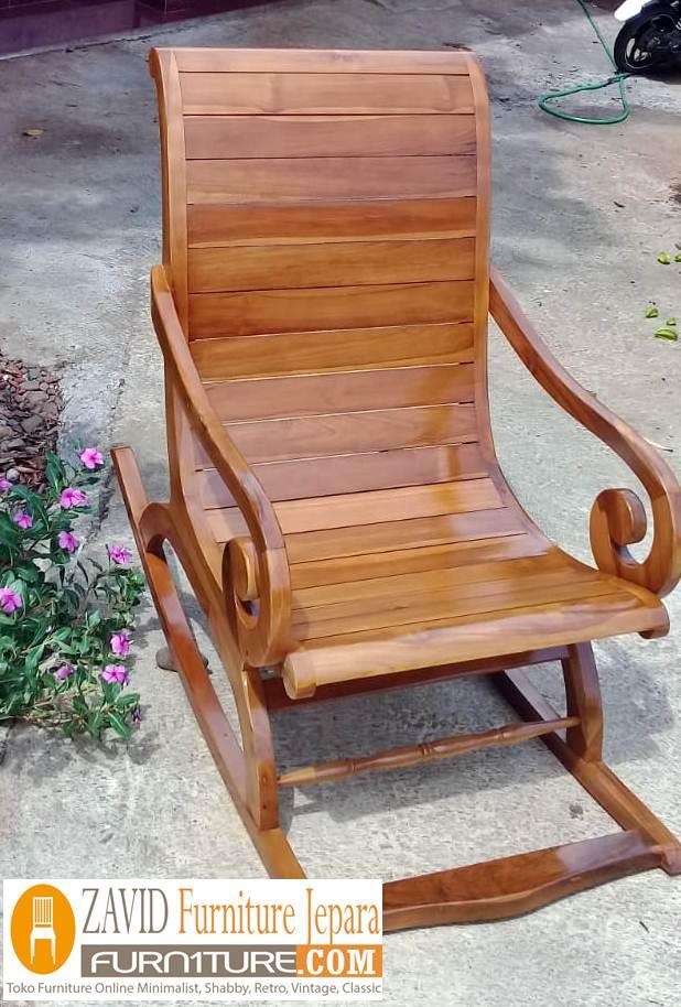 kursi-santai-goyang-untuk-teras Kursi Goyang Santai Untuk Teras Rumah Kayu Jati Minimalis