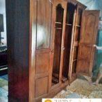 Lemari Pakaian Terlaris 2020 4 Pintu Minimalis Kayu Jati