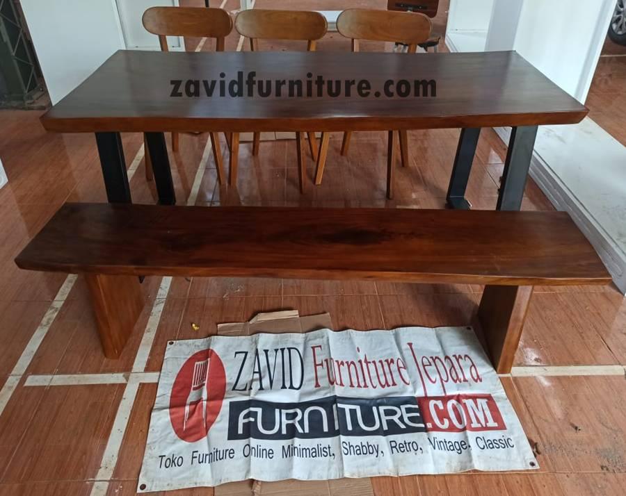 meja makan kayu trembesi desain baru 2020 - 2020 Meja Trembesi Untuk Makan Desain Paling Laris Di Indonesia