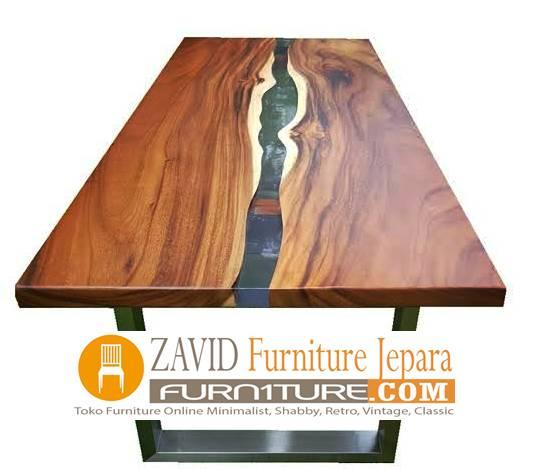 meja makan kayu trembesi resin baru - 2020 Meja Trembesi Untuk Makan Desain Paling Laris Di Indonesia