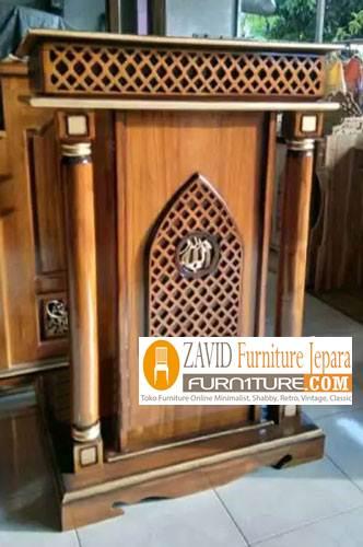 mimbar-bandung-minimalis Mimbar Bandung Minimalis Kayu Jati Untuk Masjid Desain Baru
