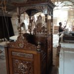 Jual Mimbar Kubah Ukir Mewah Kayu Jati Untuk Masjid
