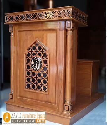 mimbar-masjid-bandung-desain-minimalis-baru Mimbar Bandung Minimalis Kayu Jati Untuk Masjid Desain Baru