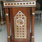 Mimbar Bandung Minimalis Kayu Jati Untuk Masjid Desain Baru