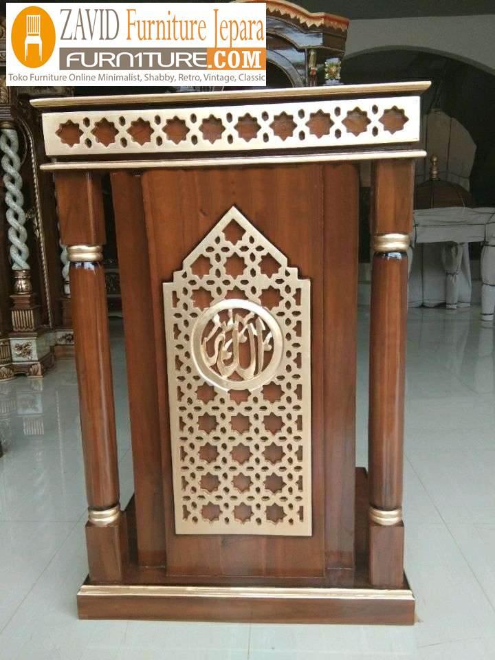 mimbar-masjid-bandung-minimalis Mimbar Bandung Minimalis Kayu Jati Untuk Masjid Desain Baru