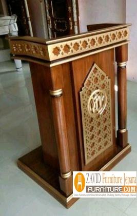 mimbar-masjid-minimalis-kayu-jati Mimbar Bandung Minimalis Kayu Jati Untuk Masjid Desain Baru