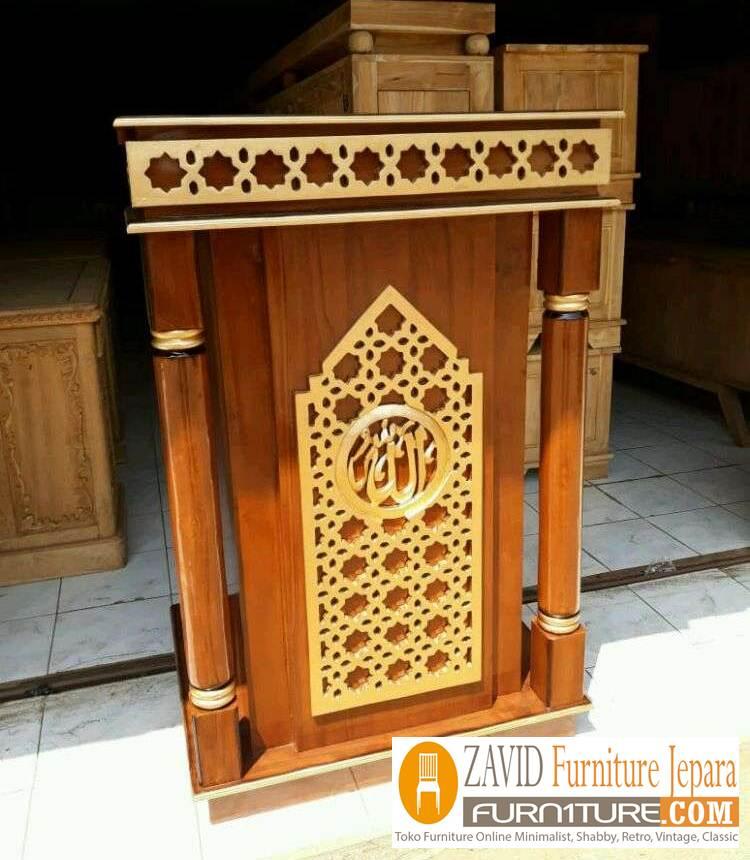 mimbar-masjid-minimalis-kota-bandung Mimbar Bandung Minimalis Kayu Jati Untuk Masjid Desain Baru