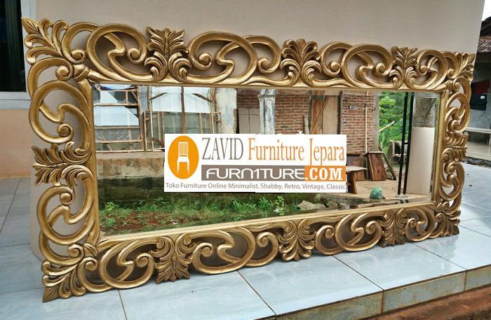 pigura-kayu-ukiran-modern Pigura Cermin Bali Ukiran Mewah Modern