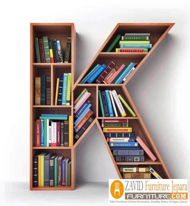 rak-buku-abjad-huruf-k Rak Unik Desain Abjad Untuk Buku Ruang Keluarga Minimalis