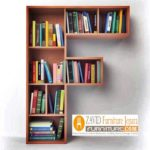Rak Unik Desain Abjad Untuk Buku Ruang Keluarga Minimalis