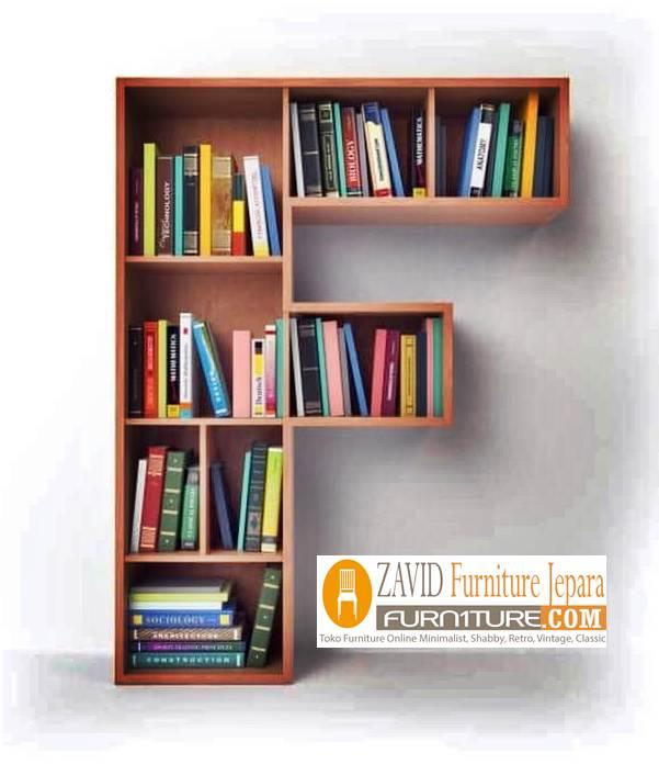 rak-buku-dinding-abjad-huruf-F Rak Unik Desain Abjad Untuk Buku Ruang Keluarga Minimalis
