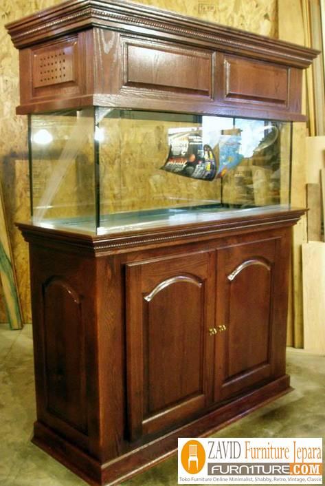 aquarium kayu jati sederhana minimalis - Meja Aquarium Surabaya Kayu Jati Minimalis Sederhana