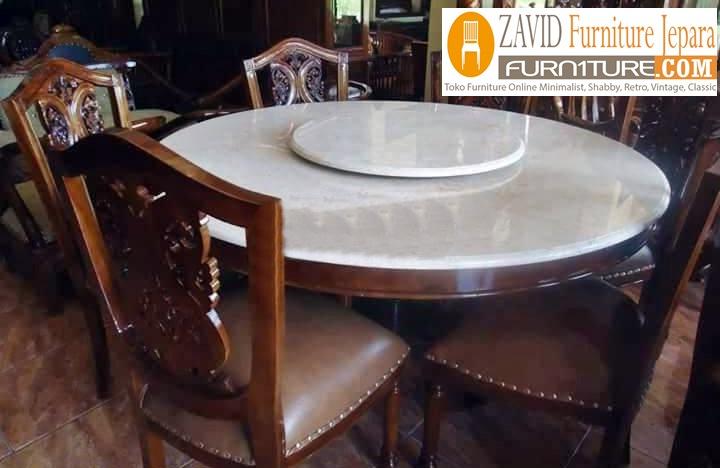 desain-meja-makan-marmer-polosan-putih Meja Makan Marmer 8 Dan 6 Kursi Desain Modern Terlaris