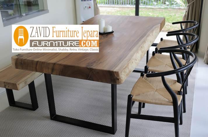 desain-meja-trembesi-kaki-besi-paling-laris Meja Trembesi Kaki Besi Desain Minimalis Untuk Makan Sehari-Hari