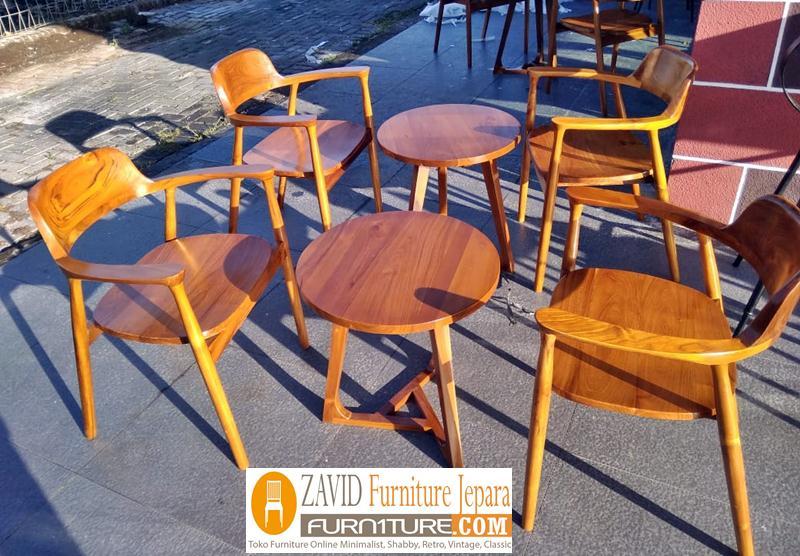 kursi cafe baru kayu jati - Kursi Cafe Demak Kayu Jati Minimalis