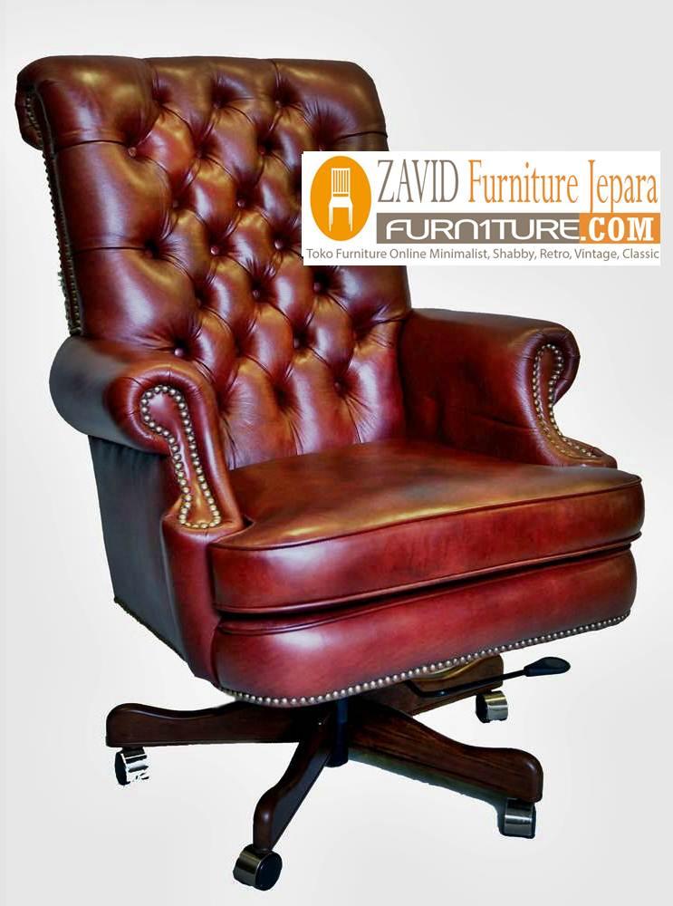kursi kantor kayu jati sofa baru - Kursi Direktur Mewah Termahal
