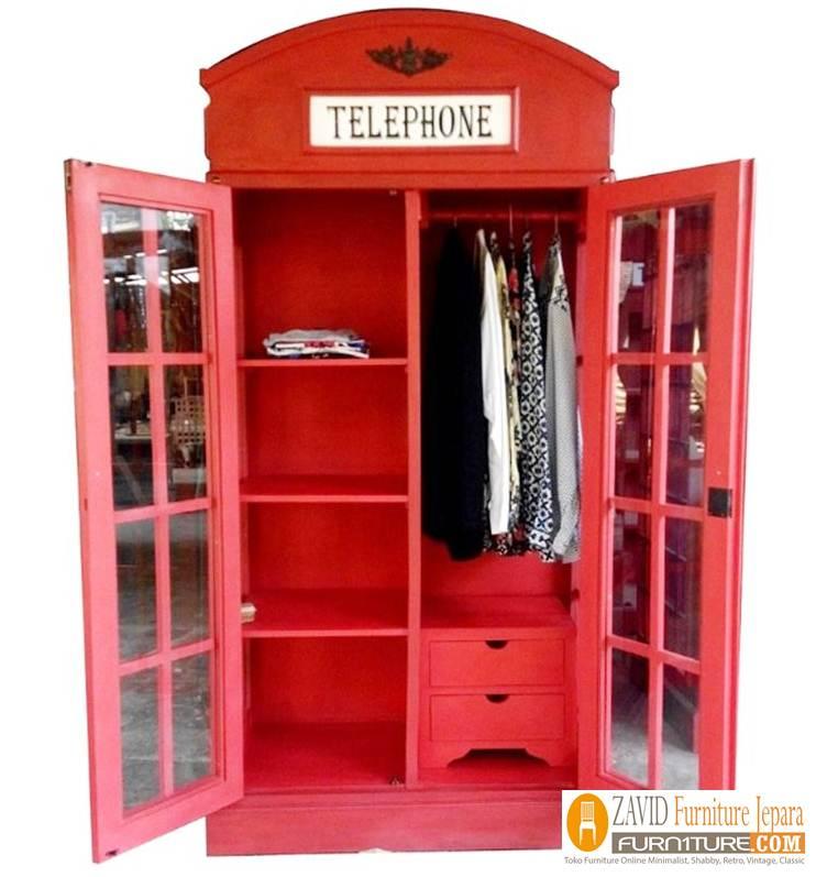 lemari-pakaian-telephone Lemari Pakain Telephone Desain Baru Unik