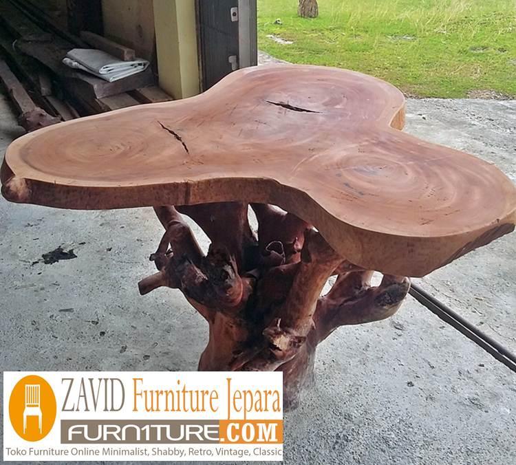 meja akar kayu berkualitas tinggi - Meja Akar Kayu Alami Desain Unik
