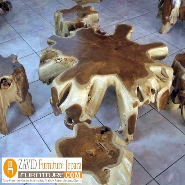 meja dari akar kayu - Meja Akar Kayu Alami Desain Unik