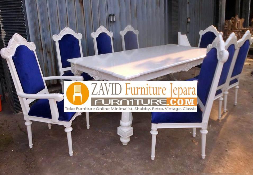 meja makan 8 kursi warna putih - Meja Makan Minimalis 8 Kursi
