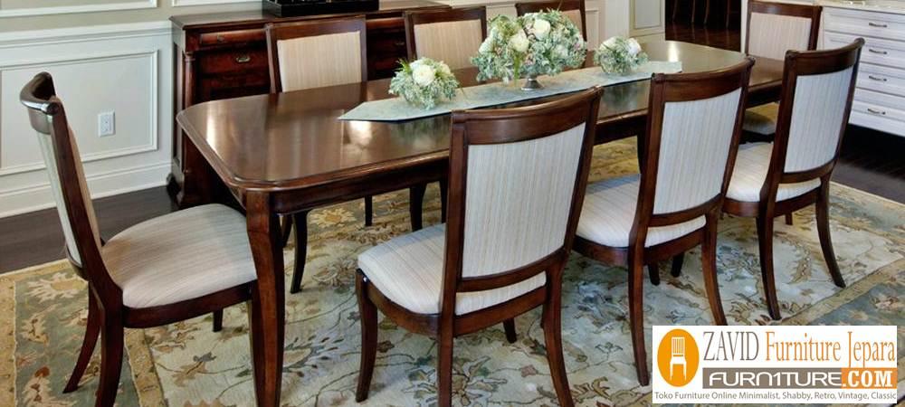 meja makan kayu jati 8 kursi baru - Meja Makan Minimalis 8 Kursi