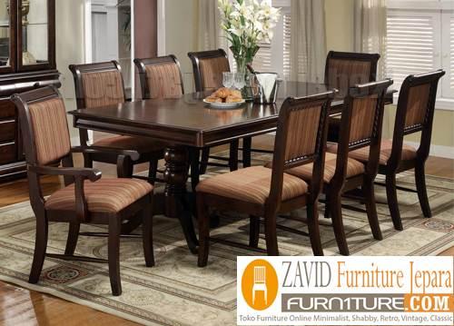 meja-makan-kayu-jati-8-kursi-minimalis Meja Makan Minimalis 8 Kursi
