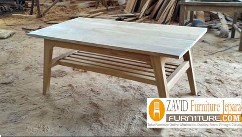 meja makan kayu mindi minimalis - Meja Kayu Alami Utuh Klasik