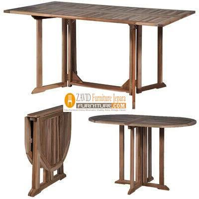 meja makan lipat kayu jati 1 - Meja Makan Lipat Kayu Jati Minimalis Terbaru