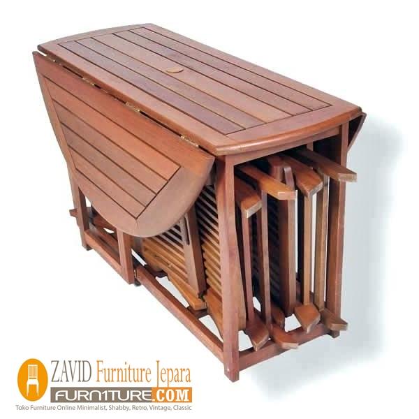 meja makan lipat kayu jati baru - Meja Makan Lipat Kayu Jati Minimalis Terbaru