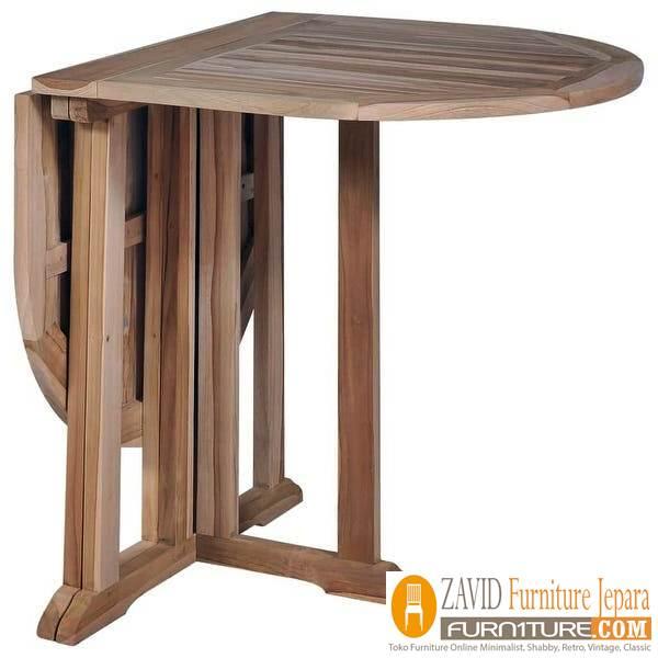 meja makan lipat kayu jati solid - Meja Makan Lipat Kayu Jati Minimalis Terbaru