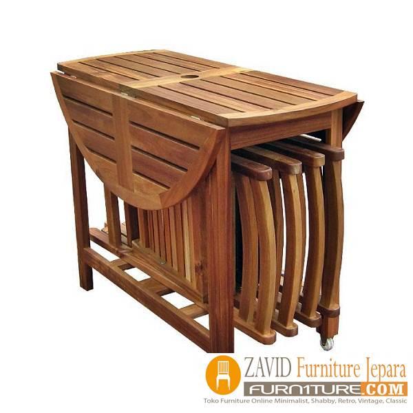 meja makan lipat kayu jati - Meja Makan Lipat Kayu Jati Minimalis Terbaru