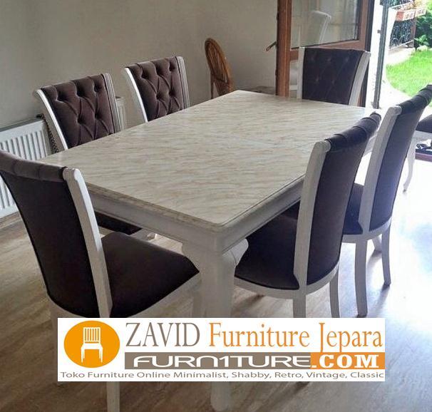 meja-makan-marmer-6-kursi-baru Meja Makan Marmer 8 Dan 6 Kursi Desain Modern Terlaris