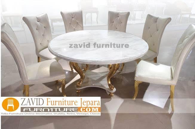 meja-makan-marmer-6-kursi-meja-bulat Meja Makan Marmer 8 Dan 6 Kursi Desain Modern Terlaris