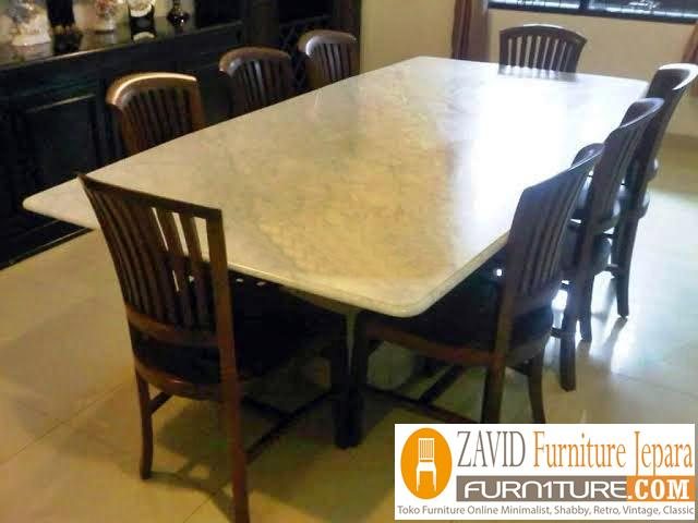 meja-makan-marmer-8-kursi-baru Meja Makan Marmer 8 Dan 6 Kursi Desain Modern Terlaris