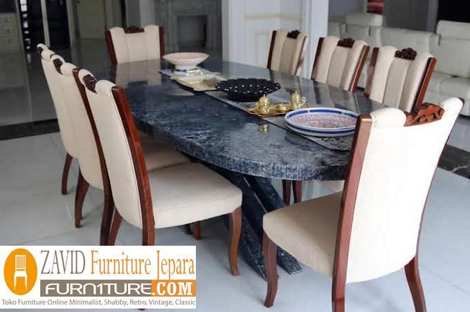 meja-makan-marmer-8-kursi-modern Meja Makan Marmer 8 Dan 6 Kursi Desain Modern Terlaris