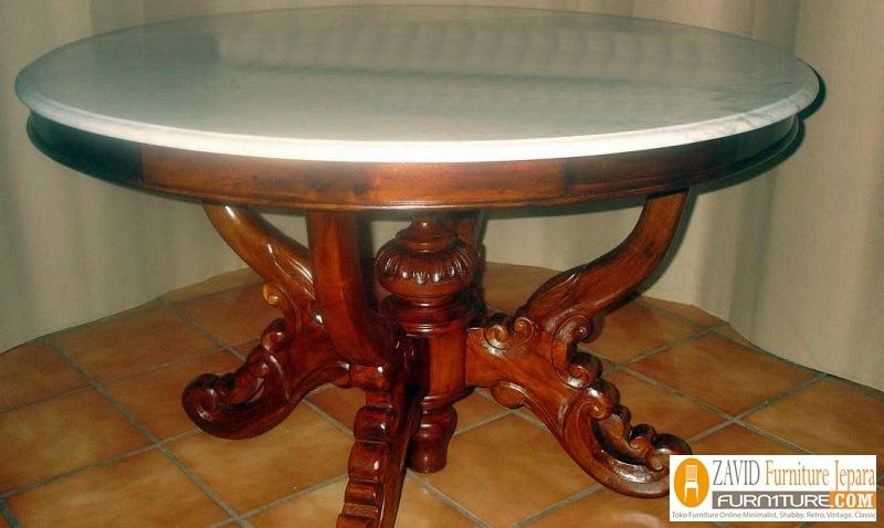 meja-makan-marmer-bundar-baru Meja Makan Marmer 8 Dan 6 Kursi Desain Modern Terlaris