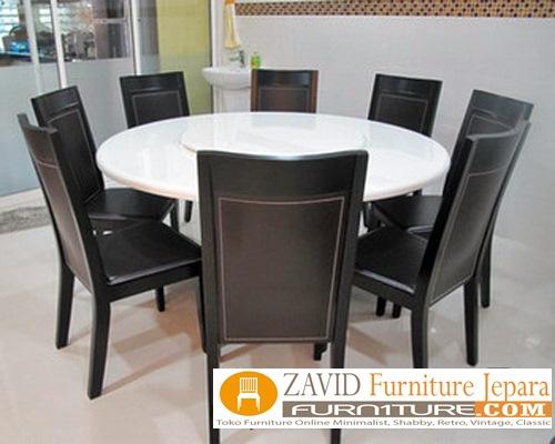 meja-makan-marmer-bundar Meja Makan Marmer 8 Dan 6 Kursi Desain Modern Terlaris