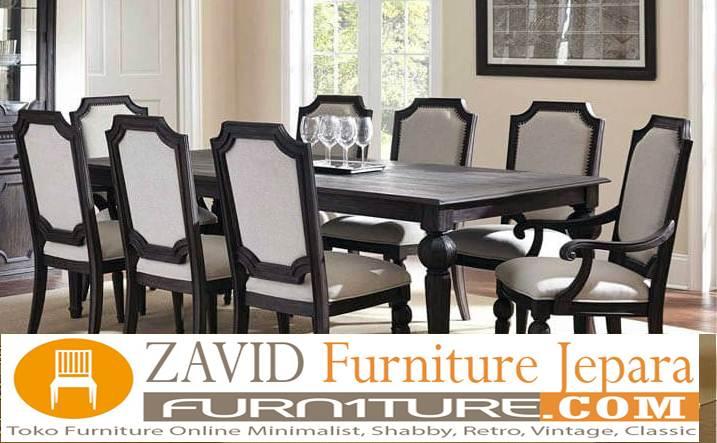 meja makan minimalis 8 kursi bahan kayu jati - Meja Makan Minimalis 8 Kursi