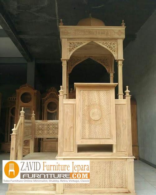 mimbar-masjid-jati Model Gambar Mimbar Masjid Nabawi Madinah Yang Terkenal